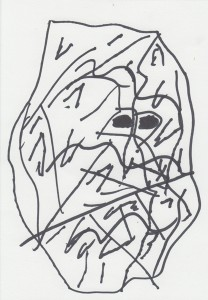 quentin chambry drawings abstract head