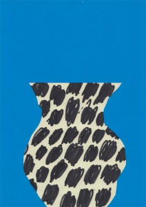 quentin chambry vase blue dots