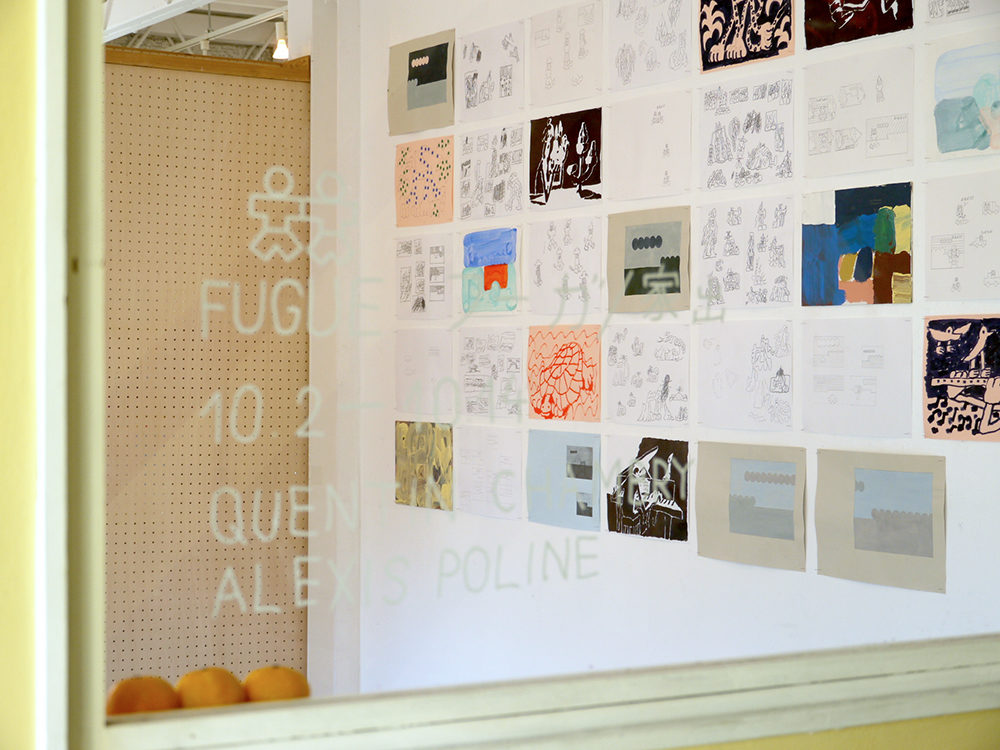 quentin chambry alexis poline exhibition exposition fugue utrecht tokyo drawing publication