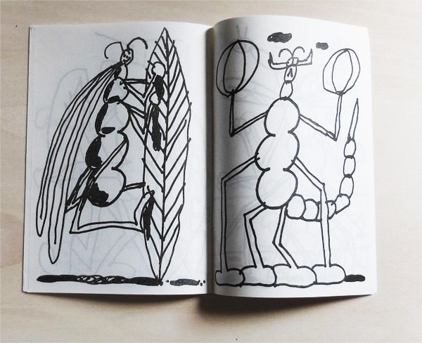 insectus zine quentin chambry consternation atelier insect ant spider butterfly