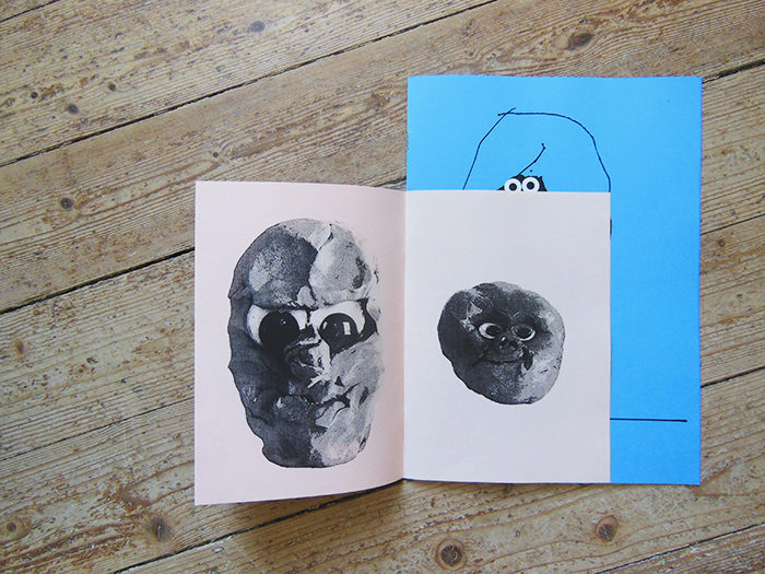 Quentin Chambry Zine Faces Characters funny Drawings Art eyes