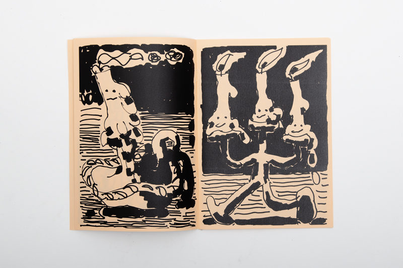 quentin chambry zine drawing candles